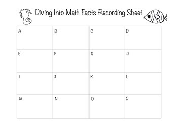 Diving into Math Facts: Math Around the Room (Multiplication and Division)