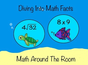Diving into Math Facts: Math Around the Room (Multiplicati