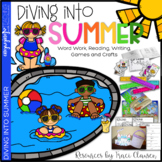 Summer Writing, Word Work, Reading and Craft - Diving into Summer