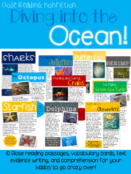 Diving into the Ocean! {10 Nonfiction Close Read Texts & Activities}