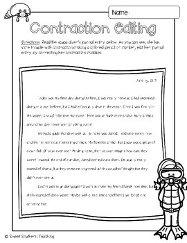 Diving with Contractions