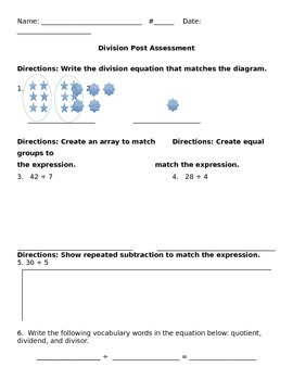 Divion Post Assessment