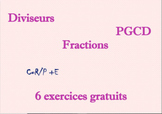 Diviseurs, PGCD et Fractions : exercices + correction