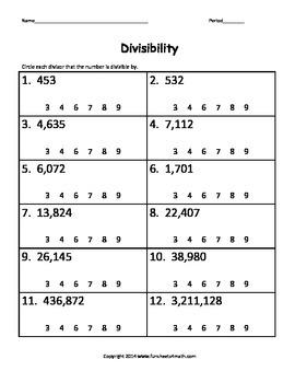Divisibility (Bundle)