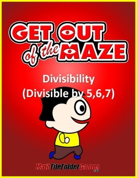 Division: Divisibility Maze - Divisible by 5,6,7  (Fun Mazes/Worksheets)