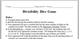 Divisibility Dice Game
