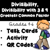 Divisibility, Divisibility with 9 and 3, Greatest Common Factor (QR Codes)