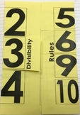 Divisibility Foldable