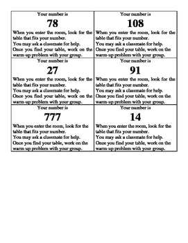 Divisibility Grouping Activity
