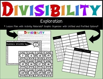 Divisibility-Lesson Plan/Activity,  Graphic Organizer, Posters, and Game Bundle!