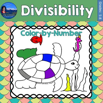 Divisibility Math Practice Under the Sea Color by Number