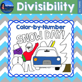 Divisibility Math Practice Snow Day Color by Number