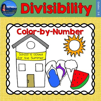 Divisibility Math Practice End of Year Color by Number