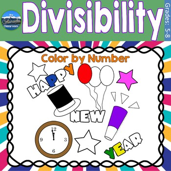 Divisibility Math Practice | New Years Color by Number