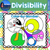 Divisibility Math Practice Pi Day Color by Number