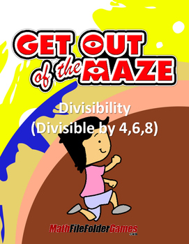 Divisibility Maze - Divisible by 4,6,8