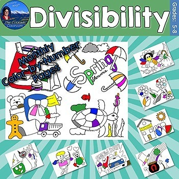 Divisibility Monthly Color by Number Bundle