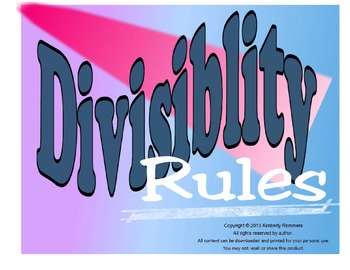 Divisibility Poster