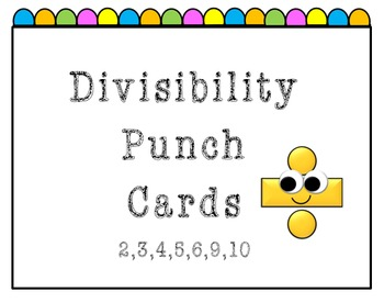 Divisibility Punch Card