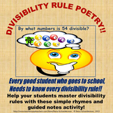 Divisibility Rule Poetry