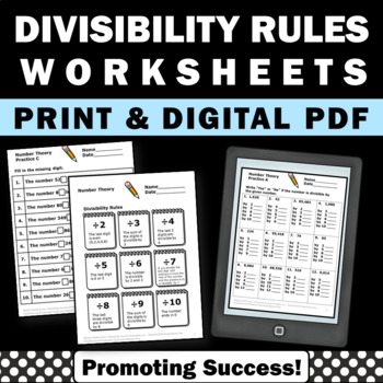 Divisibility Rules Worksheets, 4th Grade Math Divisibility Rules Activities