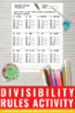 Divisibility Rules, 4th Grade Division Worksheets, 5th Grade Math Review Sheets