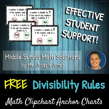 FREE Divisibility Rules DIY Step-by-Step Clipchart