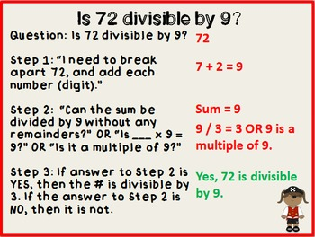 Divisibility Rules 3 6 9 Packet - Pirates