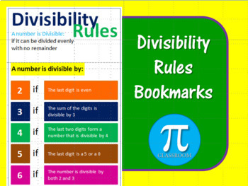 Divisibility Rules Bookmarks