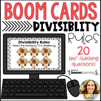 Divisibility Rules Digital Boom Cards