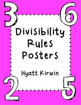 Divisibility Rules- Bright Colors