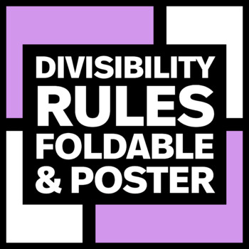 Divisibility Rules Bulletin Board Poster and Foldable Bundle