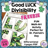 St. Patrick's Day Math Art Divisibility Rules Math Colorin