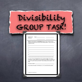 Divisibility Rules Cooperative Task Challenge Formative Assessment FUN