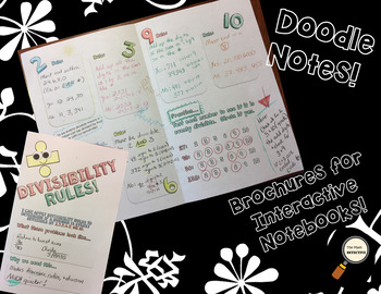 Divisibility Rules - Doodle Notes Brochure for Interactive Notebooks