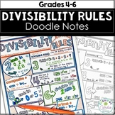 Divisibility Rules Doodle Notes and Problem Solving Activity