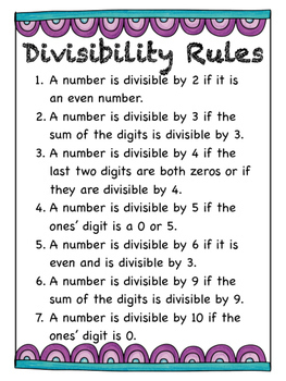 Divisibility rules worksheet pdf