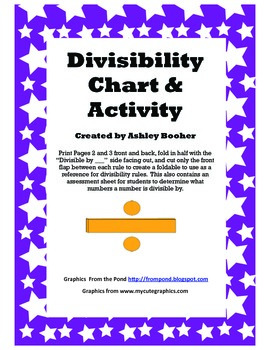 Divisibility Rules Foldable and Assessment