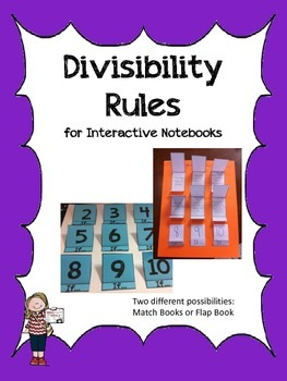 Divisibility Rules- For Interactive Notebooks