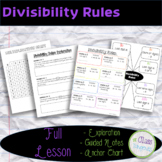 Divisibility Rules Full Lesson: Exploration, Guided Notes,