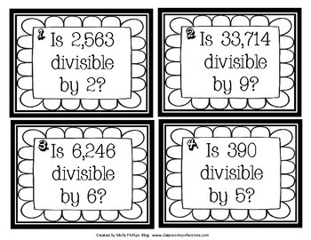 Division Game: Divisibility Rules: Math Game for 4th Grade (possibly 3rd & 5th)