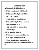 Divisibility Rules Guide