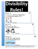 Divisibility Rules Horizontal Flipbooks for 2, 5, 10 and 3, 6, 9
