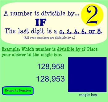 Divisibility Rules Interactive SMARTBoard