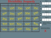 Divisibility Rules Jeopardy - Smartboard