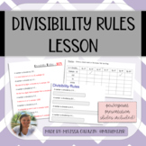 Divisibility Rules Lesson