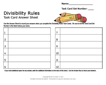 SOLVE IT! Divisibility Test for TWO Practice Task Cards
