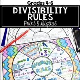Divisibility Rules Math Wheel
