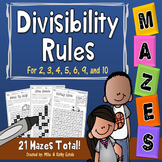 Divisibility Rules Mazes