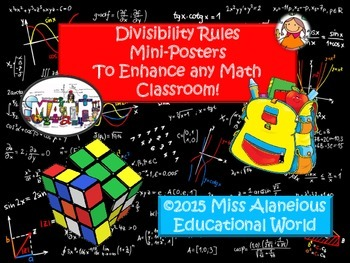 Divisibility Rules: Mini-Posters for Referencing in Teaching!